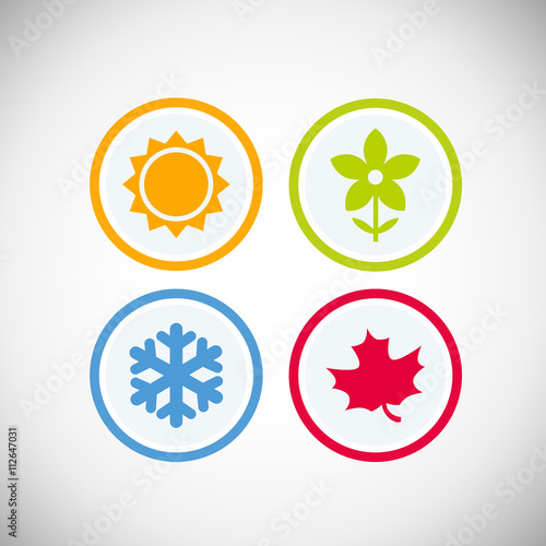 Láminas  Four seasons icon symbol vector illustration