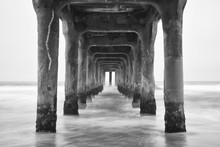 Under The Pier. Black And Whit...
