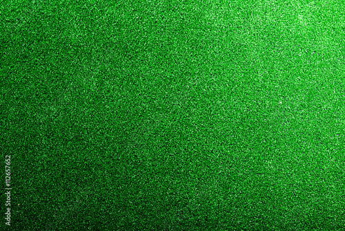 Photo  Artificial turf. Studio shot. Green background. Copy space.