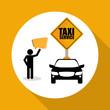 Taxi design. Transportation icon. Isolated illustration