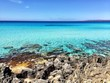 Cristal water in Formentera Spain beach