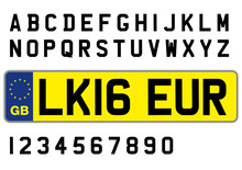 British Car Plate With Letters And Numbers