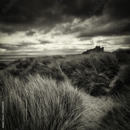 View of grassy landscape against cloudy sky