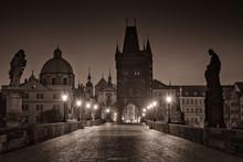 Photo Of Charles Bridge, Prague At Night