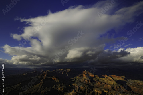 Clouds above sandstone mountains