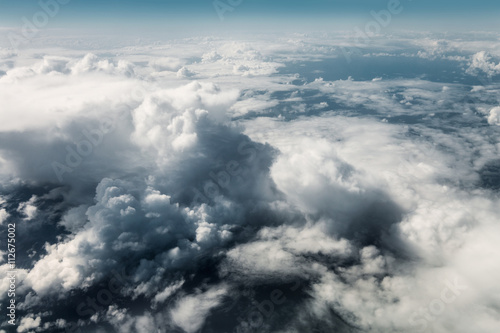 Papiers peints Ciel Aerial view of clouds from above