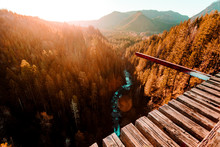 Elevated View From Bridge Crossing Vance Creek