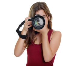 Teenager Taking Photographs With A Professional Camera