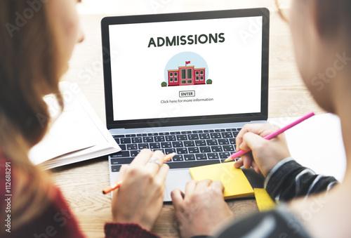 Photo Bachelors Degree Admission School Education Concept