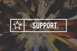 Support Assistance Aid Coaching Collaboration Concept