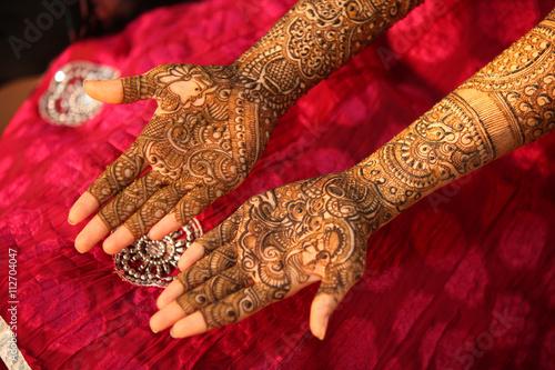 Fényképezés Indian Bride Hands