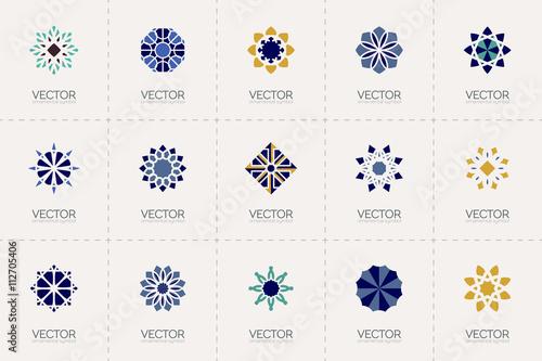 Fotografie, Obraz  Vector geometric symbols