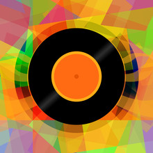 Vinyl Disc Abstract Music Background