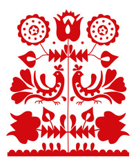 Slavic folk ornament from Slovakia