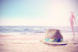 summer background for your drink on sand and free space