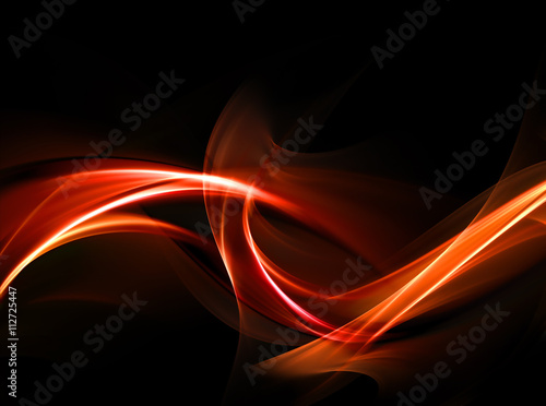 Fotobehang Fractal waves Elegant Design or art element