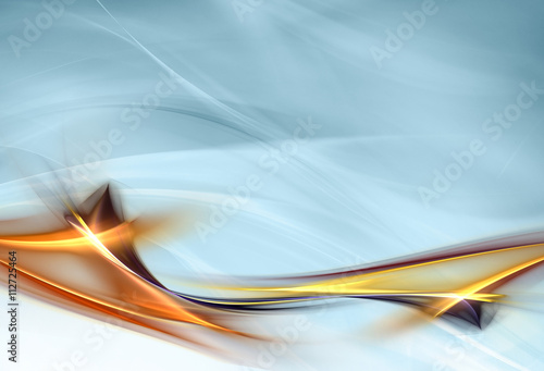 Tuinposter Fractal waves Elegant abstract design for your awesome ideas