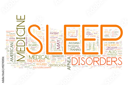 Photo  Sleep Disorders collage of word concepts