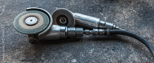 Photo  air angle grinder