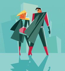 Panel Szklany Do pokoju dziewczyny Good versus evil. Opposition. Superhero