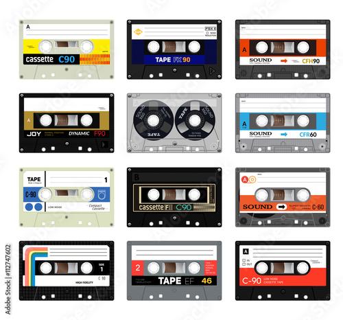 Foto Retro plastic audio cassette, music cassette, cassette tape