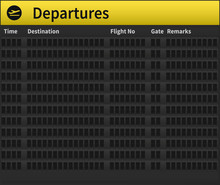 An Empty Airport Timetable. Ve...