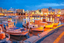 Old Harbour Of Heraklion With ...