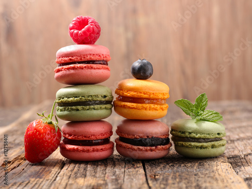 Cadres-photo bureau Macarons assorted macaroon