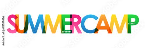 """Fotografía  """"SUMMER CAMP"""" Multicoloured Vector Letters Icon"""