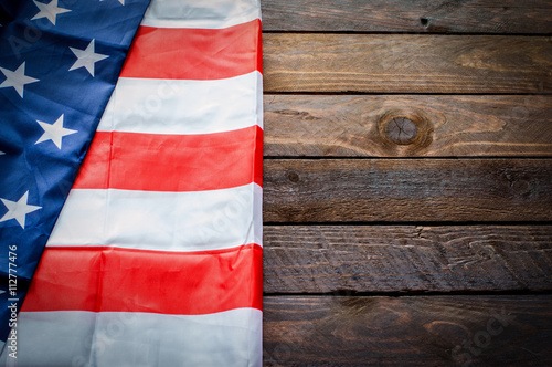 Fotografia  American Flag for Memorial Day or 4th of July - Background