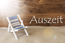 Summer Sunny Greeting Card, Auszeit Means Relax