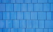 Weathered Blue Shingled Wall