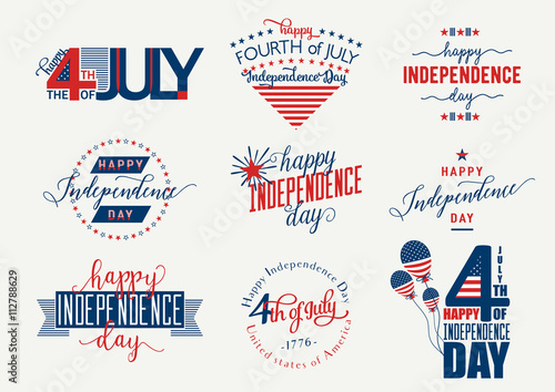Canvas-taulu Happy Independence Day United States overlay