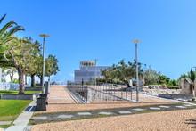 Vista Da Entrada Do Parque Dos Poetas Em Oeiras