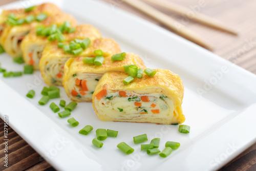 obraz PCV Japanese rolled omelette