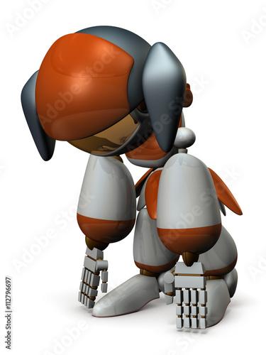 Fotografie, Obraz  電池が切れたロボット