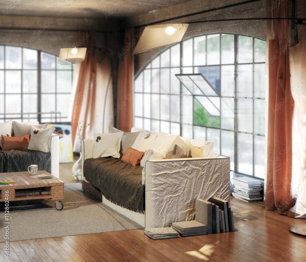 Postindustiral Loft Design (detail)