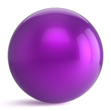 Sphere Round Button Purple Bal...