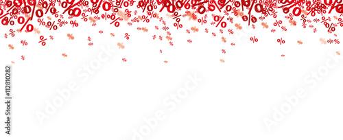 Cuadros en Lienzo  Red Percents Confetti