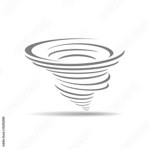 Fotografie, Obraz  cyclone icon