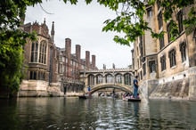 Bridge Of Sighs, Cambridge. View From The River.