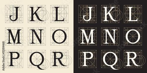Designing Initials Vintage Style Letters J