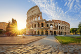 Colosseum in Rome and morning sun, Italy - 112814625