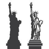 Fototapeta Nowy Jork - New York Statue of Liberty Vector silhouette
