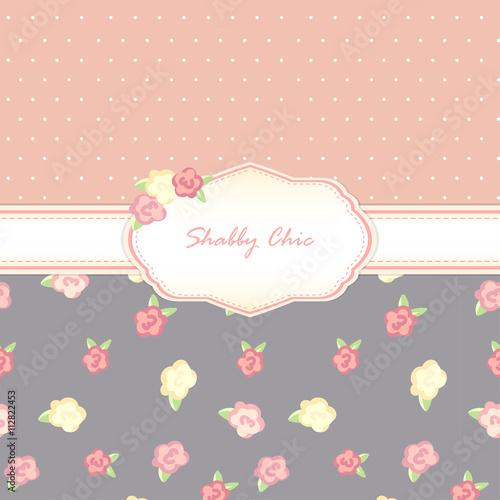 Fotografie, Obraz  shabby chic. background. floral swatch