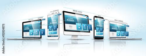 Valokuvatapetti Web design concept. Vector