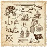 Treasure map vector illustrations
