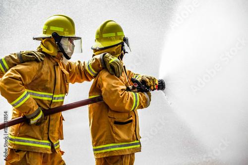 Canvas Print Fireman