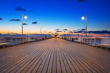 Molo (pier) In Sopot At Baltic...