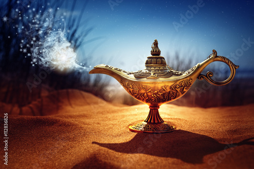 Magic Aladdins Genie Lamp Wallpaper Mural